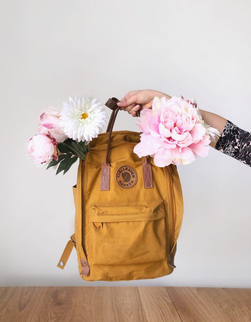 zaino kanken con fiori