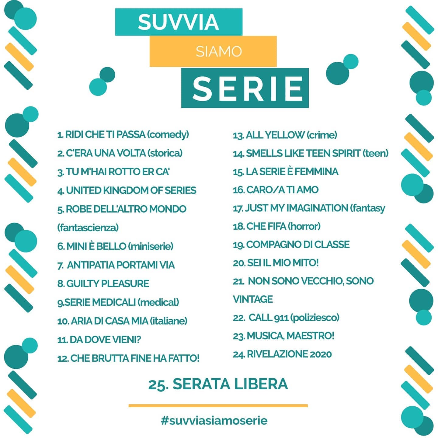 suvviasiamoserie challenge